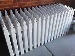 white picket fence. Picket Fence Hire White L
