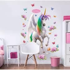 magical unicorn large character wall