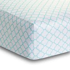 deluxe breathable fitted crib sheet seafoam moroccan