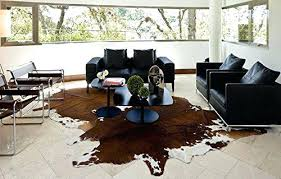 skin turgor tenting brindle white belly cowhide rug on cow hide leather area