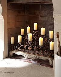fireplace screens with candle holders inspirational tree swirls 10 votive candle screen fireplace screens