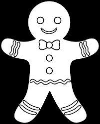 Small Picture Gingerbread Man Outline Coloring Page navidad Pinterest