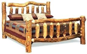 Charming Log Bed Frame Queen How To Make A Cedar King Size Platform ...