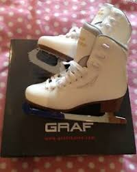 Graf Figure Skates Sizing Chart Details About Graf White Bolero Crystal Figure Skates Size 39 Worn One Hour Excellent Condit