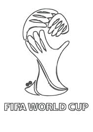World Cup Trophy Colouring Page T