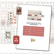Printable Playing Card Printable Miniature Dollhouse Playing Cards With Box Digital Collage Sheet 1 12 Scale Props Poker For Your Dolls 1 12 Scale