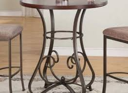 3 piece pub table set square red cushion stools 30 inch