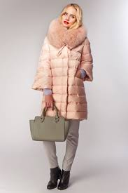 Розовый женский <b>пуховик Fontanelli</b> (AFG) с мехом   Пуховики ...