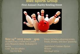 Bowling Event Flyer Flyer For Bwil Sports Group First Annual Charity Bowling