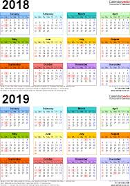 two year calender 2018 2019 calendar free printable two year pdf calendars