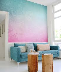 painterly this pink and blue wall mural by pixersize com harks back to eighties