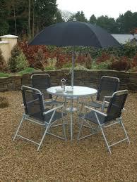 6 piece steel and silver black textilene patio set