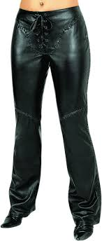womens fashion leather pants in genuine lamb nappa black