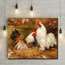 pastoral animal chicken coop scenery oil painting canvas printings printed on canvas home wall art decoration on chicken coop wall art with pastoral animal chicken coop scenery oil painting canvas printings