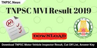 tnpsc motor vehicle inspector result