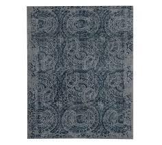 bosworth printed wool rug blue