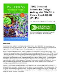 Patterns For College Writing Fascinating Patterns For College Writing Pdf Vatozatozdevelopmentco