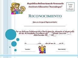 formato mencion de honor planeta escolar diplomas y reconocimientos a padres y familia