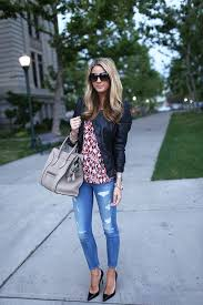 chic leather jacket outfit