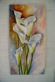 gift flower paintings handmade oil painting calla lilies the colorful world