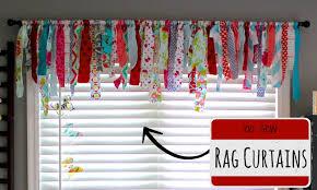 Diy No Sew Curtains No Sew Rag Curtains Youtube