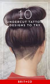 45 Undercut Hairstyles With Hair Tattoos For Women женские
