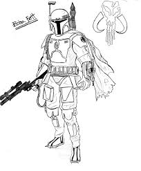 Small Picture Coloring Pages Star Wars Boba Fett Maelukecom
