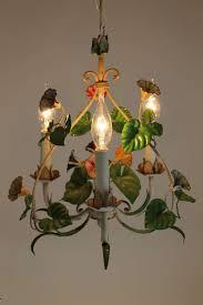 vintage fl chandelier vintage european tole chandelier with fl motif at 1stdibs