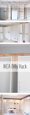 office shelves ikea. IKEA Hack With Built-in Billy Bookcases - How We Got An Expensive Library Home Office Look On A Budget. Shelves Ikea I