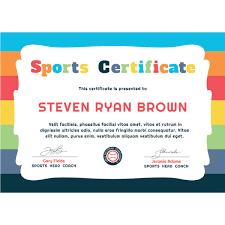 Download Award Certificate Templates Print Editable Pdf Winner Free Kids Sports Award Certificate