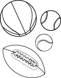 Small Picture Free Printable Sports Balls Coloring Page for Kids