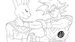 Facile Dragon Ball Beerus Vs Goku Super Saiyan Gold Coloriage