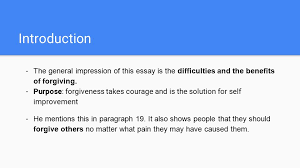 by edyn a mili and julie ppt video online  introduction the general impression of this essay is the difficulties and the benefits of forgiving