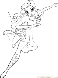 Superhero Girls Coloring Pages Poison Ivy Page Free Super Hero Ben Reboot –  Imwithphil