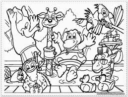 Zoo 7 Animals Printable Coloring Pages