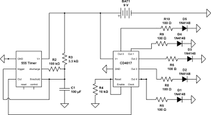 led problem with 555 timer and 4017 counter electrical Wiring Diagram Symbols at 4017 Wiring Diagram