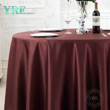 yrf new 132 round black wedding ruffle curly willow table cloth hotel supply