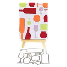 10.8*8.1cm <b>Wine Bottle</b> Design Metal Cutting Die Stencils For DIY ...
