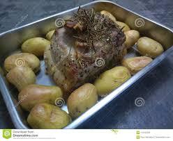 Raw Lamb Roast Stock Photo Image Of Roast Potatoes 110153334