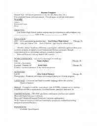 Entry Level Resume Helper Simple Format For Freshers Samples High