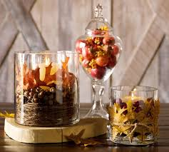Decorating Ideas For Glass Jars Accessories Breathtaking Fall Leaves In Glass Jar Centerpiece On 56