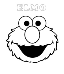 Small Picture Easy Sesame Street Elmo Coloring Pages Playing Learning