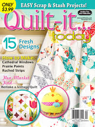 Quilt-it...today Magazine March/April 2014 issue, on sale January ... & Quilt-it...today Magazine March/April 2014 issue, on sale Adamdwight.com