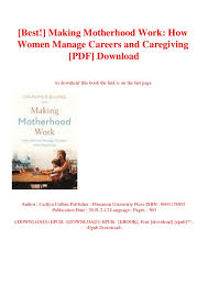 Best Careers For Women Best Making Motherhood Work How Women Manage Careers And