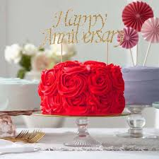 65 Gold Rhinestone Happy Anniversary Cake Topper Tablecloths