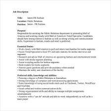 writing a job description template. 9 Public Relation Job Description Templates Free Sample Example