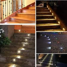 7colors 10pcs lots indoor and outdoor led step stair lighting fixtures waterproof recessed in wall