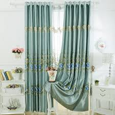 faux silk embroidered curtains are generous and elegant intended for faux silk curtains plan