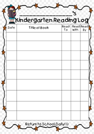 First Grade Reading Log Border Template Png Download 1127 1590 Free Transparent