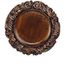 diy wood charger plates jay imports wood textured charger plate featuring home kitchen dining diy wooden charger plates